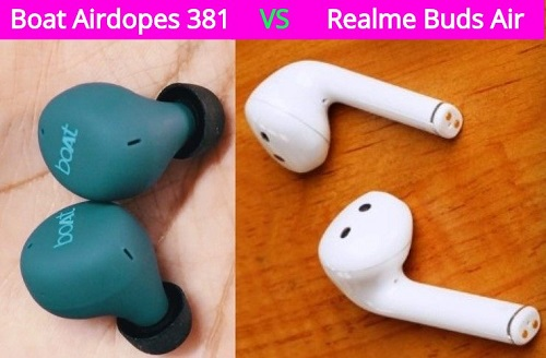 Boat Airdopes 381 vs Realme Buds Air