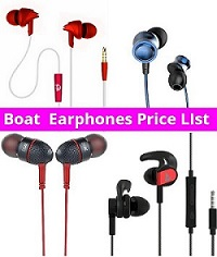 Boat Earphones Price List in India