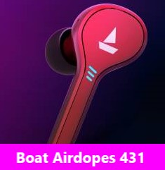 Boat Airdopes 431 Button Controls