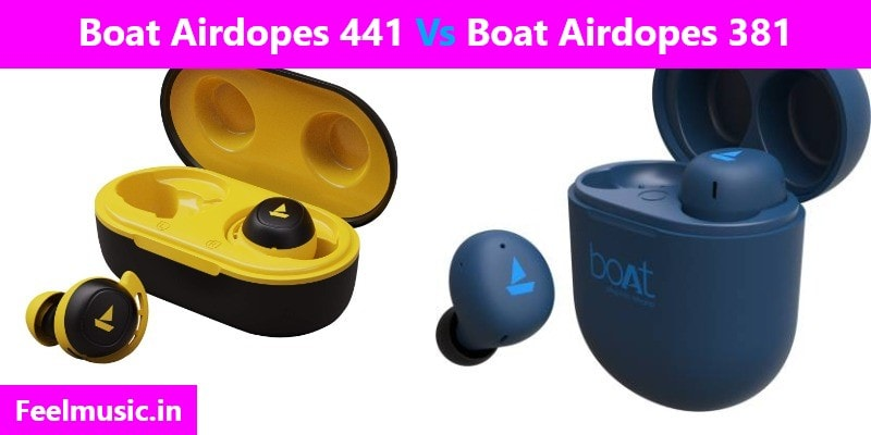Boat Airdopes 441 Vs 381 Comparison
