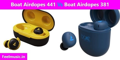 Boat Airdopes 441 Vs Boat Airdopes 381