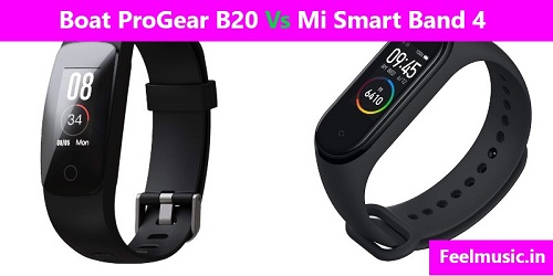 Compare Boat ProGear B20 Vs Mi Smart Band 4