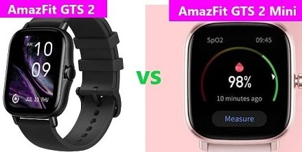 Amazfit GTS 2 Vs GTS 2 Mini Comparison: Features and Specs