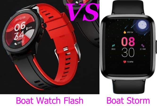 boAt Watch Flash VS boAt Storm Smartwatch Comparison