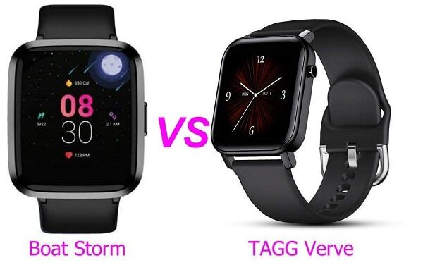 Boat Storm Vs TAGG Verve Smartwatch Comparison