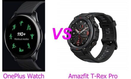 OnePlus Watch Vs Amazfit T-Rex Pro Smartwatch Comparison